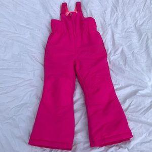 Faded Glory pink ski bib
